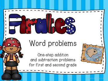 One-step addition and subtraction word problems (pirate themed)