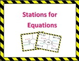 One-step and Two-step Equations (Stations)