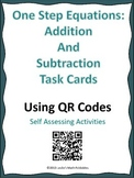 One step equations QR code Task Cards