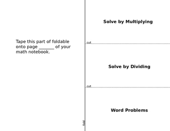 One step equations foldable muliplying and dividing with f