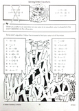 One-step linear equations maze activity