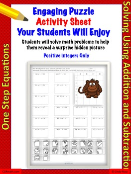 One-step linear equations using addition and subtraction (18 Problems)