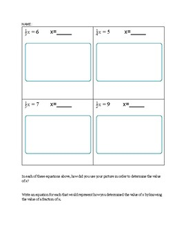 One step with fractions WORKSHEET