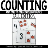 Counting & One-to-One Correspondence Activities {Fall Edition}