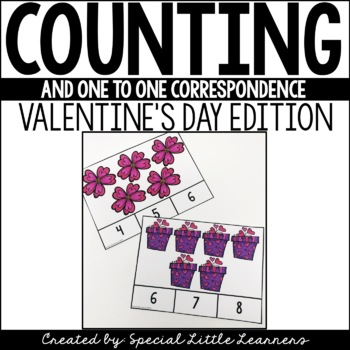 Counting & One-to-One Correspondence Activities {Valentine's Day Edition}