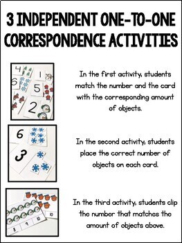 One-to-One Correspondence Activities {Winter Edition}