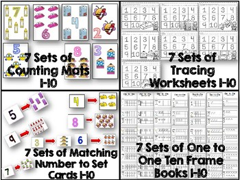 One to One Correspondence! Counting with Counters- August Edition!