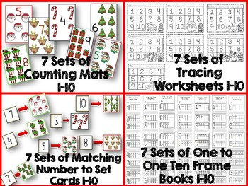 One to One Correspondence! Counting with Counters- December Edition!
