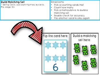 One to One Correspondence! Counting with Counters- January Edition!