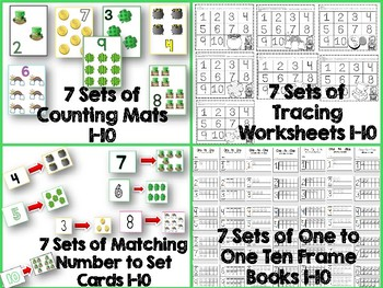 One to One Correspondence! Counting with Counters- March Edition!