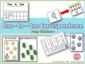 One to One Correspondence! Counting with Counters- May Edition!