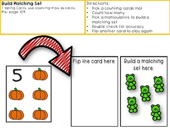 One to One Correspondence! Counting with Counters- October Edition!
