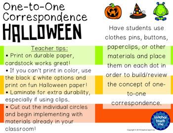 One-to-One Correspondence Halloween