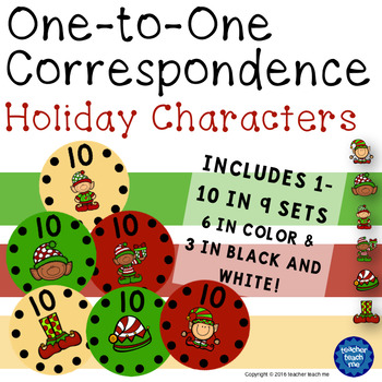 One-to-One Correspondence Holiday Characters