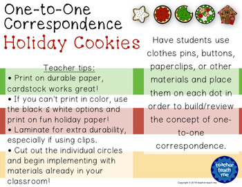 One-to-One Correspondence Holiday Cookies