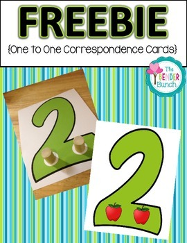 One to One Correspondence Number Cards {Freebie}
