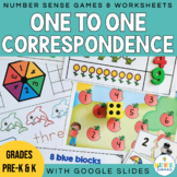 One to One Correspondence Number Sense Math Centers