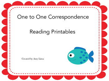 One to One Correspondence Reading Printables