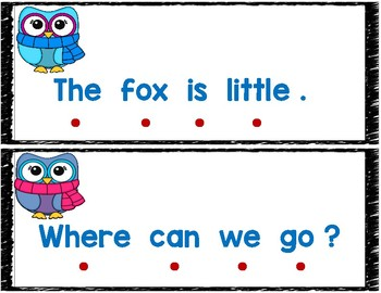 One-to-One Correspondence Sentence Owls