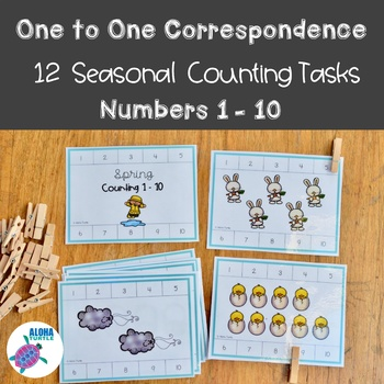 One to One Correspondence - Year Round Counting 1-10