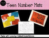 One to One Correspondence and Number Sentence Teen Mats