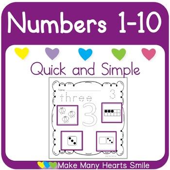 Numbers One to Ten Freebie