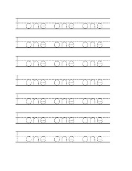 One to ten Handwriting Practice sheets