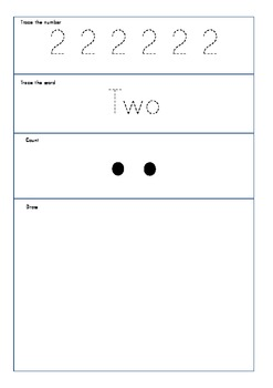 One to ten worksheets