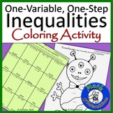 One-variable, one step Inequalities-Inequality Coloring Activity