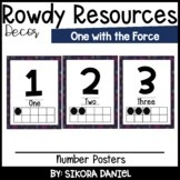 One with the Force Number Posters   Star Wars Space Theme