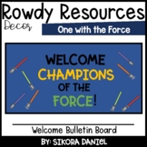 One with the Force Welcome Bulletin Board | Star Wars Space Theme
