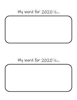 One word goal sheet