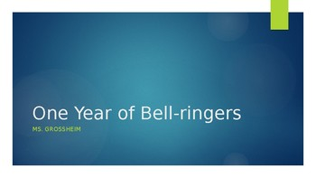 One year of Bell-ringers