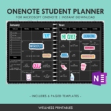 OneNote Digital Student Planner - Monthly Weekly Academic Planner, Study Planner