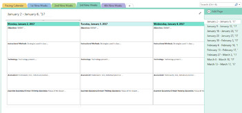 OneNote Lesson Plan Template