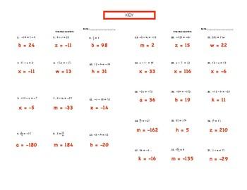 OneStep Equations (6.10A, 7.11A, 8.8C, A.5A)