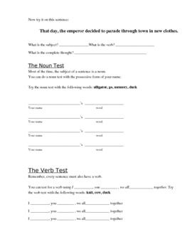 OneStop Grammar Shop: Building Sentences, Finding Fragments