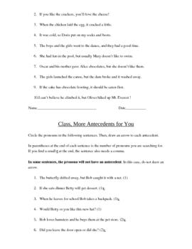 OneStop Grammar Shop: Pronouns