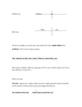 OneStop Grammar Shop: Sentence Diagram Intro, Diagramming  Basics