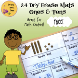 Ones and Tens Dry Erase Mats - 24 Activities for Math Cent