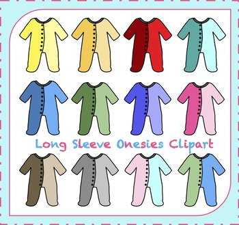 Onesies Clipart / Baby Clipart / Baby Shower Clipart