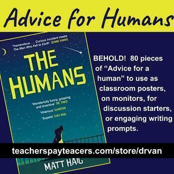 """Ongoing Activity: Advice for a human – Matt Haig's novel, """"The Humans"""""""