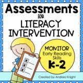 Assessments for Literacy Intervention (K-2)