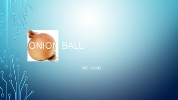 Onion Ball Game for Word Lesson 5 Vocats Questions