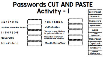 Online Accounts - Passwords - Life Skills - Technology - Special Education