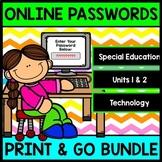 Online Accounts - Passwords - Technology - Special Education - Bundle Pack
