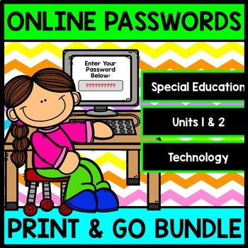 Online Accounts - Passwords - Technology - Special Education - Bundle Pack