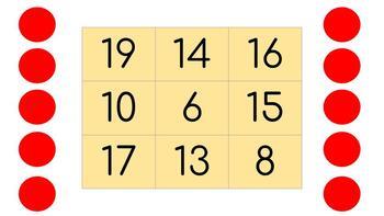 Online Bingo Boards Numbers 1-20