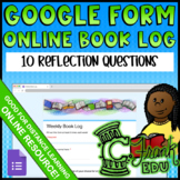 Online Book Log (Google Form - Distance Learning, Reading at Home, Paperless)