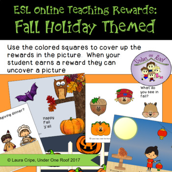 VIPKID Rewards for your online classroom: Fall Holiday Themed